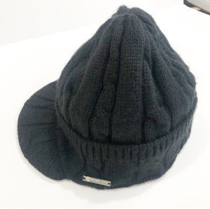 Michael Kors Black Knit Beanie Black Hat